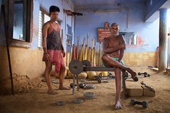 Kushti Coach (Bradbury Lense) Tags: akhadas exercise gym india kushti training weightlifting wrestler wrestling
