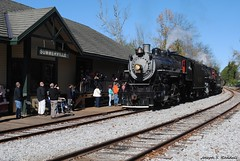 Arriving in Summerville (Joseph S. Randall) Tags: tennesseevalleyrailroadmuseum tvrm summervillesteamspecial southernrailway southern630 southern4501 summervillega georgia