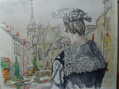 La Chapelle Neuve (christian angué) Tags: aquarelle bretagne