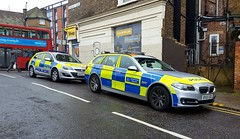 London Met Police Vauxhall and BMW 65' Reg (standhisround) Tags: police vehicle car londonmetropolitanpolice vauxhall bmw metropolitanpolice met emergency 999 kilburn