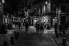 Night in the city.... (Dafydd Penguin) Tags: night city urban town centre street candid raw after dark shots blackandwhite blackwhite black white monochrome bw scene streets high iso 12800 barcelona spain catalunya catalonia nikon df nikkor 35mm af f2d