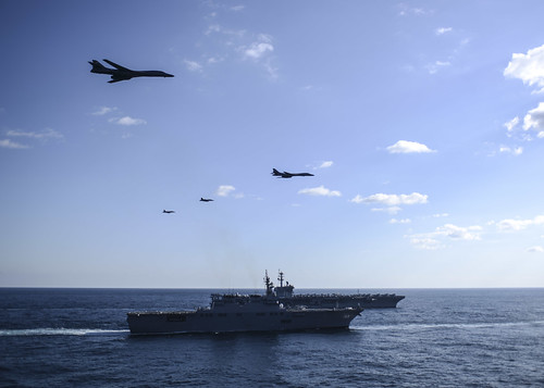 The US Pacific Fleet -- hundreds of billions of dollars flying and sailing in formation