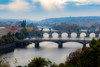 Hazy Autumn Morning in Prague, Czech Republic (Aethelweard) Tags: prague hlavníměstopraha czechia cz river bridges bridge hazy morning misty beautiful stunning breathtaking sky vltava letna park city capital town efs55250mmf456isstm