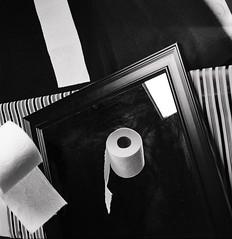 (VonLiviu) Tags: blackandwhite bw film shootfilm shotonfilm buyfilmnotmegapixels kodak tmax tmax400 studio chicago chicagophotography stilllife advertising ad spec specad art fineart 120 120mm mediumformat zeiss zeissoptics hasselblad 500c hasselbladv surrealism surreal geometry shapes creative imagination moody dark studiophotography mundane daily life needs everyday indoors monochrome hc110 hc110b v600 scary horror toiletpaper tp nature mirror mirrorplay tricks