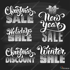Christmas sale (everythingisfivedollar) Tags: christmas sale christmasshopping holidaysale newyearsale chalk chalkboard background set collection wintersale festive special offer discount advertising calligraphic lettering inscription shop promotion ad banner poster label sticker market vector gift xmas holiday retail store black white sign season text buy business symbol celebration design december template classic vintage christmastree cover