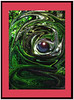 Eye am watching (agphoto100) Tags: fantasy swirl murk colour eye abstract f770exr forest bush false light dark mood frame agphoto100 photoshop manipulated