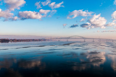 Beautiful Day (langdon10) Tags: blueskies bridge canada canon70d quebec shoreline stlawrenceriver troisriviere calm clouds nautical outdoors