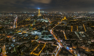 View on Paris from Montparnasse tower