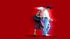 NYC Coming and Going Series (daystar297) Tags: streetportrait motion couple husband wife moving walking photoshop nikon nikond90 photomanipulation art photoart nyc nikonnikkor18200vr