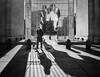 Weiwei at Christmas (John St John Photography) Tags: washingtonsquarepark goodfencesmakegoodneighbors aiweiwei greenwichvillage newyorkcity newyork streetphotography candidphotography christmas tree shadows bw blackandwhite blackwhite blackwhitephotos johnstjohn