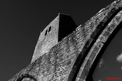 Muthill Old Church and Tower (red.richard) Tags: muthill old church tower ruin bw monochrome