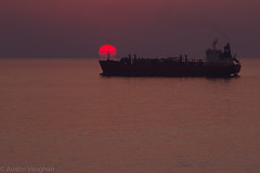 Persian Gulf Sunset (avaughan585) Tags: lpg gas tanker jebel dhanna uae persian gulf arabia arab middle east red crimson silhouette