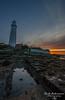 sunrise at the old lady (R0BERT ATKINSON) Tags: stmaryslighthouse whitleybay sunrise lighthouse robatkinsonphotography tyneside tynewear northeastengland northeastcoast nikond5100 sigma1020