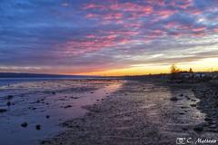 171108-42 Fin de journée (clamato39) Tags: coucherdesoleil sunset ciel sky clouds nuages fleuvestlaurent river fleuve eau water provincedequébec québec canada