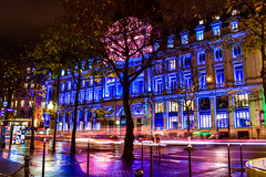 9e Arrondissement (octohedron) Tags: paris 9earrondissement night nuit colors street lights longexposure