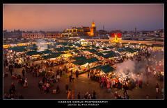 Jemâa el-Fna Market (Hagens_world) Tags: marokko sky marrakesch market dusk abenddämmerung africa afrika himmel landschaft maroc marrakech marrakesh morocco natur nature cielo natura paisaje medina marrakeschsafi canon canoneos5dmarkiii mar souk