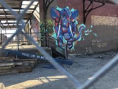 Memory Line, Do Not Cross (swanksalot) Tags: streetart mural elephant fultonmarket westloop chicago policeline donotcross fence