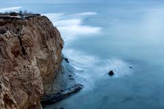 Sunset Cliffs: Blue Hour (Photos By Clark) Tags: location california northamerica canon2470 unitedstates cities sandiego canon60d locale places where us lightroom nik colorefx define pacific cliffs bluehour waves longexposure 30seconds movement