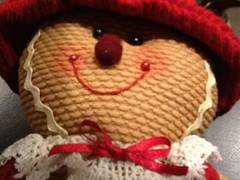 Gingerbread Doll ....#MacroMonday #BowsRibbons (Mr. Happy Face - Peace :)) Tags: macromonday bowribbons theme hmm boy ginger festive doll flickrfriends love goodness buttonsbows smileyface crafts sewing eyes hat cute yyc macromondays