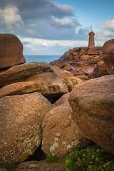 Mean Ruz (Calypso~) Tags: bretagne france perosguirec ploumanch phare granit rose rochers mer