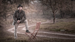 Giovanni - 2017 (davide978) Tags: collicanonitalyitaly mg1400 riccio riccioni giovanni man portrait friend with chair hat wood bosco strada street canon canonef70200mmf28lusm speedlight octabox godox davide978 davide colli davidecolli mxp malpensa brughiera ritratto 21100 varese ef 70200mm f28l usm 5d 430