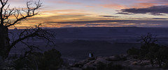 Love at Last Light (courtney_meier) Tags: canyonlands canyonlandsnationalpark coloradoplateau grandviewpoint greenriver henrymountains islandinthesky juniperusosteosperma nationalpark pinusedulis theturkshead usnationalpark utah utahjuniper whiterim canyon clouds couple crepuscular crepuscularlight desert edge evening eveninglight juniper love magichour people pine pinyon redrock redrockcountry redrocks rocks sandstone stone sunset tree