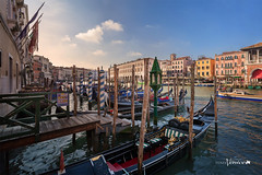 Venice, gondola (Albert Photo) Tags: italy venice grandcanal piazzasanmarco stmarkssquare gondola palazzoducale water europe boat traditional boatman rowing transportation propelled oar gondolier tourists river vehicle