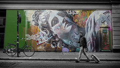 london graffiti (Daz Smith) Tags: dazsmith fujixt20 fuji xt20 city streetphotography people candid portrait citylife thecity urban streets uk mural wall graffiti art spraypaint london soho