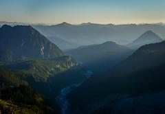 Sunset view in Mount Rainier National Park (plottsdaniel) Tags: evening pretty view nature natural park seattle pnw nikond7100 nikkor nikon dslr create explore outside mountains sunset washingtonstate washington cascades mountrainiernationalpark