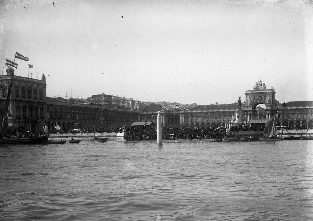 Caes das Columnas, Terreiro do Paço (J. benoliel, 1912)