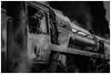 Waiting for the signal. (Ian Emerson) Tags: steam train machine transport station gcr loughborough 50mm canon blackwhite smoke driver heritage omot