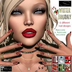 Stellar Winter Holiday Nails (Lexi★Morgan) Tags: stellar leximorgan nailpolish nails winter christmas holiday santa nailappliers maitreya christmasnails holidaynails winternails