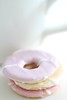 Party Rings (haberlea) Tags: home athome partyrings pink pale pastel sweet biscuits icing cup tea table macro