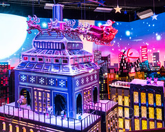 "2017 Holiday Window Display ""The Perfect Gift Brings People Together"" at Macy's Herald Square, New York City (jag9889) Tags: 2017 2017holidaywindowdisplay 20171203 34thstreet animal architecture arcticcircle bear building christmas departmentstore display gift heraldsquare holiday house miniature macy macys manhattan maritimebear midtown mouse ny nyc newyork newyorkcity night nightphotography nightscene outdoor polarbear retail santaclaus sled snow store storewindow usa unitedstates unitedstatesofamerica ursus window jag9889"