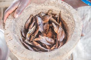 Dried fish to be pounded into powder, Zambia. Photo by Chosa Mweemba.