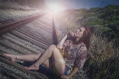 Train Wreck (Luv Duck - Thanks for 13M Views!) Tags: approved evelyn evelynfrost traintracks girlsonatrain danger redhead redhair californiagirls california pantherbeach santacruz model beautifulgirl train