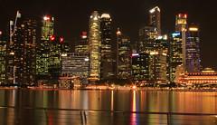 Singapur Skyline (vic_206) Tags: singapur noche night nocturna luces lights