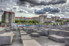 Berlin - Memorial to the Murdered Jews of Europe (HDRforEver) Tags: berlin hdr photomatix canon 600d sky clouds bluesky august memorial murdered jews europe mahnmal germany deutschland