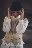 Ecce! (C-Imagery) Tags: girl portrait unsettling bowlerhat ecce cosplay homage purestrom purpleport urban gritty cinematic