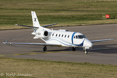 LX-SEH Cessna 560 Citation XLS Luxaviation Edinburgh airport EGPH 09.11-17 (rjonsen) Tags: plane airplane aircraft avition business jet corporate aviation arrival