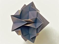 Jagged star (ISO_rigami) Tags: modular origami a4 cube polyhedron 3d sid eckhardhennig