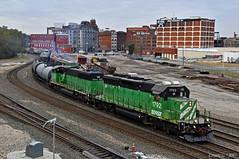 "Northbound Transfer in Kansas City, MO (""Righteous"" Grant G.) Tags: bnsf railway railroad locomotive emd burlington northern north northbound transfer freight yard kansas city missouri"