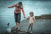 Catching a crab (Ramireziblog) Tags: anglesey crab catching girl woman bucket vissen krab canon 6d candid