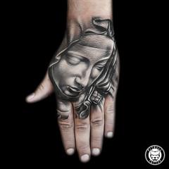 Hand Tattoo - Best Tattoo Studio in Phuket - Thailand (Pitbull Tattoo Thailand) Tags: tattoo tattoos phuket thailand patongbeach banglaroad fullsleevetattoo handtattoo blackgreytattoo colortattoo