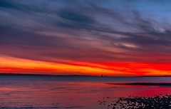 Incredible Sky (Geoffrey Radcliffe /radcliffe.geoffrey@gmail.com) Tags: geoffrey radcliffe solent hampshire england uk vibrant red lightroom5 nikon d700 50mm prime lens magnificent colour stunning image isle wight shoreline vivid extremely wall art photograph natural britain south coast