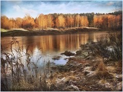November landscape (odinvadim) Tags: mytravelgram textured textures iphone editmaster travel iphoneography sunset evening iphoneonly painterly artist snapseed landscape specialist iphoneart graphic painterlymobileart