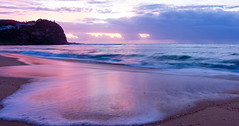 Copacabana beach 18 Nov 2017-2 (sharptrack2) Tags: sunrise beach waves copacabanabeachnsw pastelcolours sea ocean sky water sand