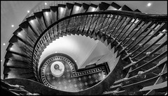 McManus Stairs (Explored) (Aimless Alliterations) Tags: angusmearns dundee fujifilmx10 scotland uk mcmanusgalleries artgallery staircase bw silverfxpro