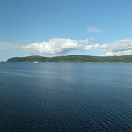 Norway by the sea - blue in the sky - blue water thumbnail