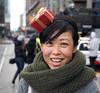 Christmas Spirit (jeffcbowen) Tags: toronto street stranger santaclausparade smile hat teeth scarf